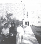 'Going to Mitchell Hall at St. Cloud' L>R: Nancy McDaniel, Linda Hosker, Judy Sorensen